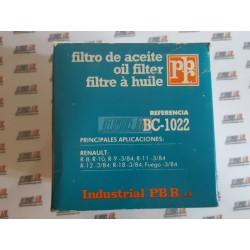 Renault 8. R10.R9. R11. R12. R18. Renault Fuego. Filtro aceite.