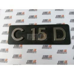 Citroen C15. Anagrama C15 D