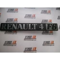 Renault 4. Anagrama Renault 4 F6
