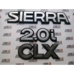 Ford Sierra. Anagrama Sierra 2.0i CLX