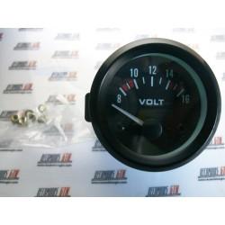 Reloj voltimetro batería 52mm