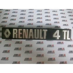 Renault 4. Anagrama metálico Renault 4 TL