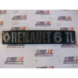 Renault 6. Anagrama  plástico Renault 6 TL