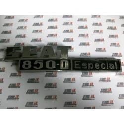 Seat 850D Especial. Anagrama